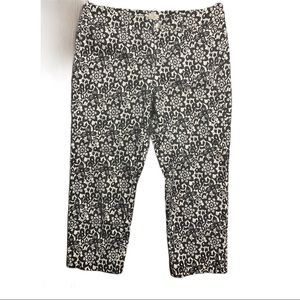 Madison Print Cropped Pants